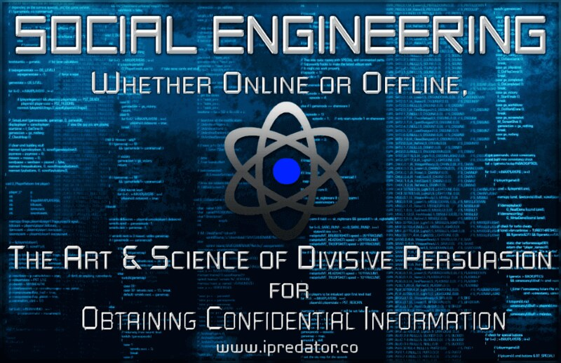 Social engineering cyber manipulation infographic