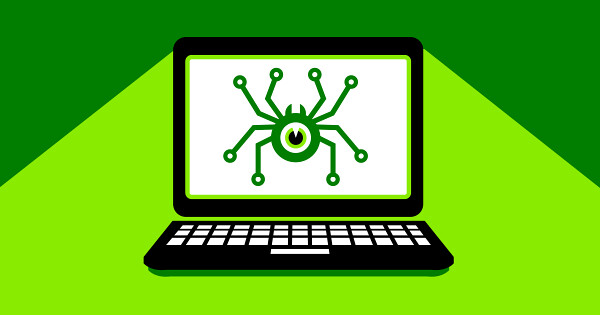 Spyware loaded onto laptop computer