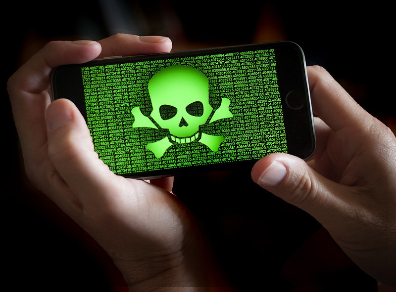 A threat on a mobile device