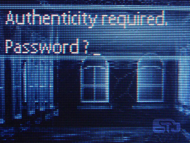 Password authenticity graphic