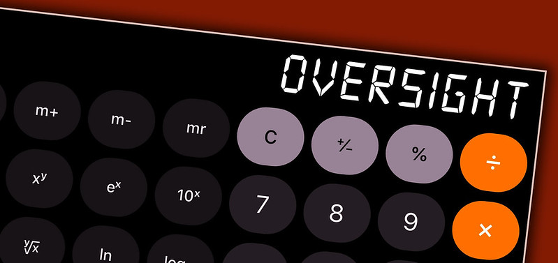 Oversight and development on calculator