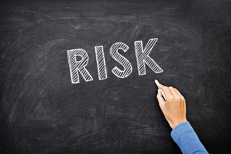 Risk Management on chalkboard