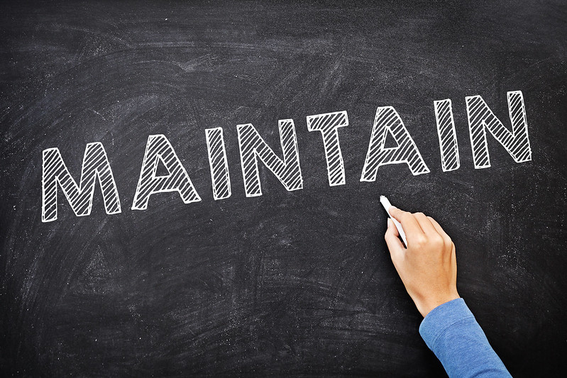 Operate and Maintain on chalkboard