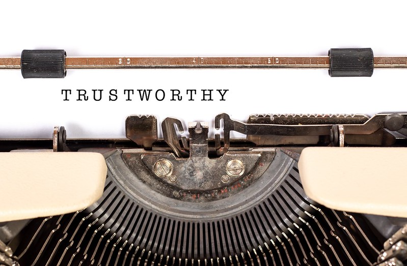 Tailored Trustworhy Space written on typewriter