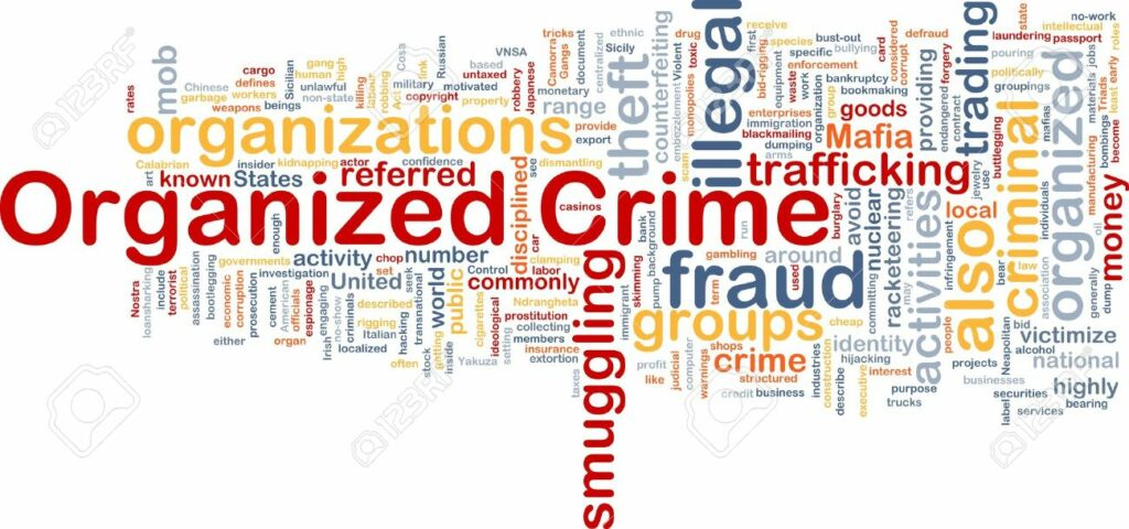 organized crime word map definition