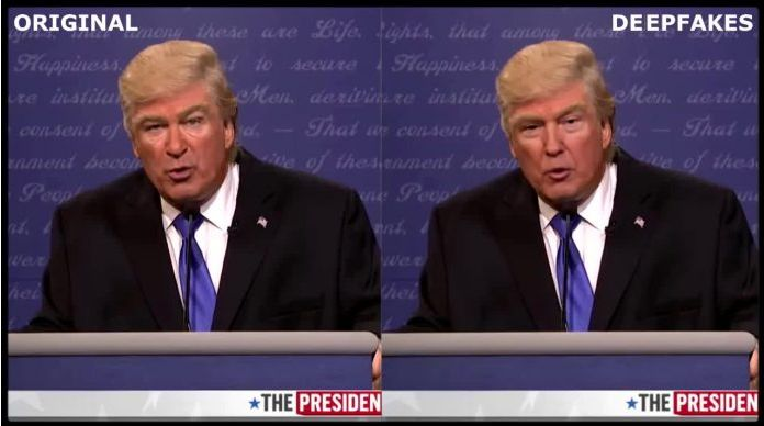 Deepfake of Alec Baldwin and Donald Trump