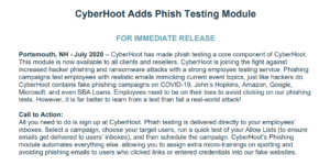 cyberhoot phish testing