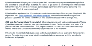 referral program press release