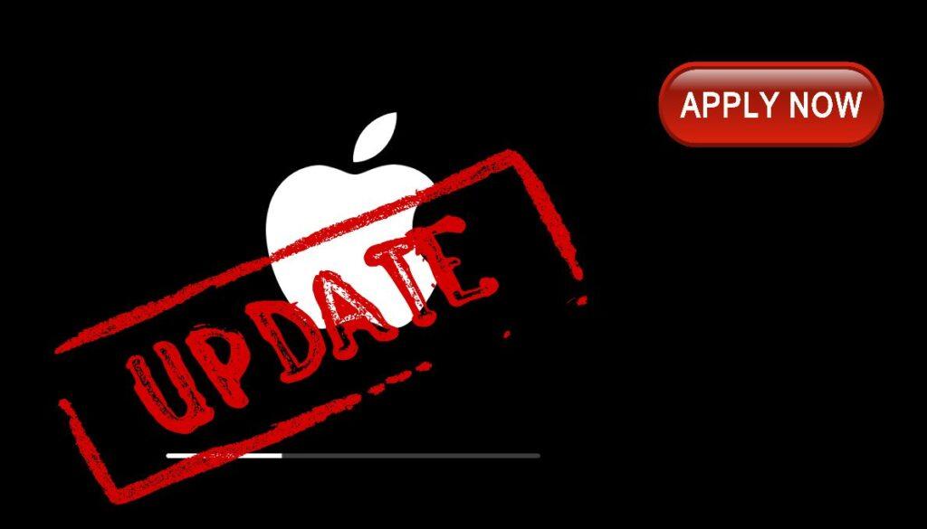 Apply Apple Update Now